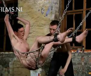 Hanging in chains he sexually abused