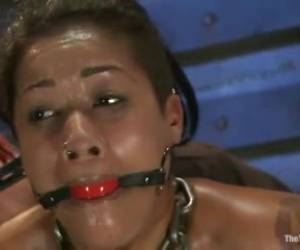 Skin Diamond gagged and roped in by a guy who can make her squeal with pain
