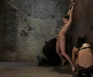 Brutalize her with a massive dose of tickling. Boy does she hate every second C5 suspension